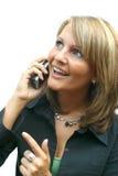 härlig telefonkvinna arkivfoto