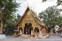 Härlig tempel i Nan, Thailand Royaltyfri Foto