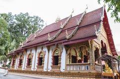 Härlig tempel i Nan, Thailand Arkivfoto