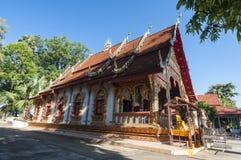 Härlig tempel i Nan, Thailand Arkivbilder