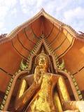 Härlig tempel i Thailand på templet för wattumsua, mest populär tempel royaltyfri foto