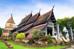 Härlig tempel i Thailand (Wat Lok mo lä) Chiangmai Thailand arkivbilder