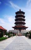 Härlig tempel på Yantai arkivfoto