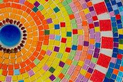 Härlig textur av den färgrika mosaiken Fotografering för Bildbyråer