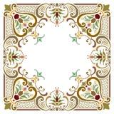 Härlig texturerad gränsram Arkivbild