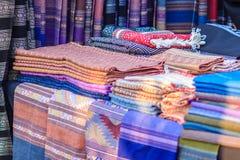 Härlig thailändsk stam- kläder och den stam- textilen utformar i inget Royaltyfri Foto