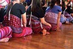 Härlig thailändsk stam- kläder och den stam- textilen utformar i inget Royaltyfri Fotografi