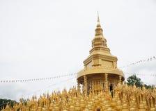 Härlig thailändsk tempel, Wat Pa Sawang Bun Temple, Thailand Arkivfoton