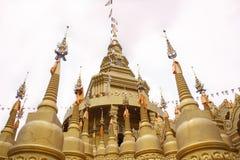 Härlig thailändsk tempel, Wat Pa Sawang Bun Temple, Thailand Royaltyfri Bild