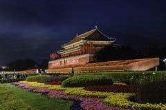 Härlig Tiananmen nattplats Fotografering för Bildbyråer
