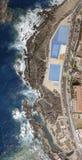 Härlig tips av Garachico, Tenerife Över huvudet sikt Royaltyfri Foto