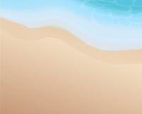 Härlig tom strand med blå signal av vågen Havs- och strandbakgrund Slight blur i löpare för att visa rörelse tropiskt illustratio royaltyfri illustrationer