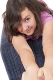 Härlig tonårs- flicka Arkivbild