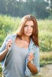 Härlig tonårs- flicka Royaltyfri Foto