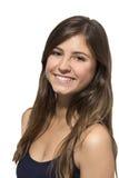 Härlig tonårs- flicka som ler ståenden Royaltyfri Foto