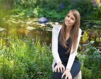 härlig tonårs- flickastående Royaltyfri Fotografi