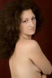härlig topless kvinna Royaltyfri Bild