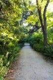 Härlig trädgård i Aten, Grekland Royaltyfria Bilder