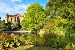 Härlig trädgård i parkera. Royaltyfria Bilder