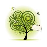 härlig tree för konst vektor illustrationer