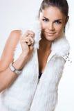 härlig trendig kvinna Royaltyfria Foton
