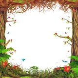 Härlig trevlig skogsmarkplats royaltyfri illustrationer