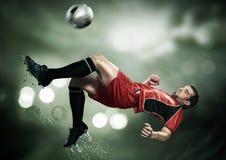 härlig trevlig spelarefotboll Royaltyfri Bild