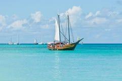Härlig tropisk ö av Aruba Fotografering för Bildbyråer
