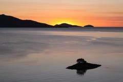 Härlig tropisk soluppgång Arkivfoto