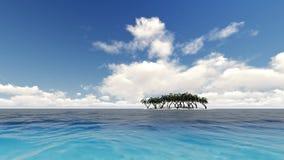Härlig tropisk strandö vektor illustrationer