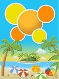 Härlig tropisk strand Fotografering för Bildbyråer