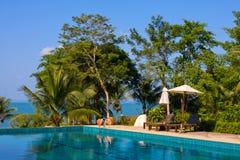 Härlig tropisk strand, Cambodja royaltyfri fotografi