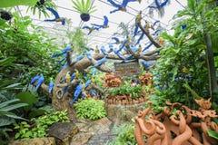 Härlig tropisk trädgård arkivbilder