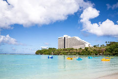 Härlig Tumon fjärd i Guam Arkivbilder