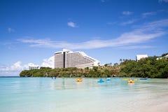 Härlig Tumon fjärd i Guam Arkivfoton