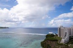 Härlig Tumon fjärd i Guam Royaltyfria Bilder