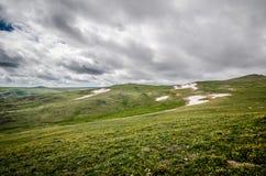 Härlig tundra längs det Beartooth huvudvägpasserandet i Montana royaltyfria foton