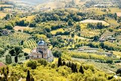Härlig tuscan landskapsikt arkivbilder