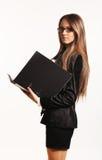 Härlig ung affärskvinna royaltyfri bild