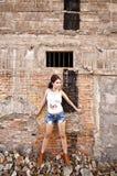 Härlig ung asiatisk kvinna arkivbild