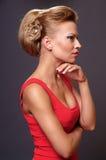 Härlig ung blond kvinna Fotografering för Bildbyråer