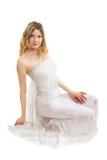 Härlig ung blond kvinna Royaltyfri Foto
