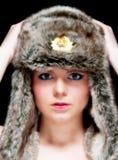 Härlig ung blondin Fotografering för Bildbyråer