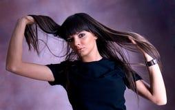 Härlig ung brunett fotografering för bildbyråer