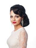 Härlig ung flicka i bilden av bruden Royaltyfria Bilder