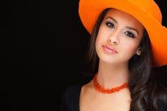 Härlig ung kvinna arkivfoto