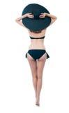 Härlig ung kvinna i bikini Arkivfoto