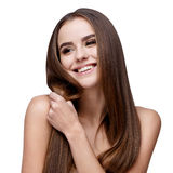 Härlig ung kvinna med ren ny hud royaltyfri foto