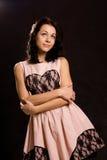 Härlig ung kvinna som romanticising royaltyfri fotografi
