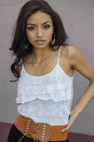 Härlig ung latina kvinna Arkivbilder